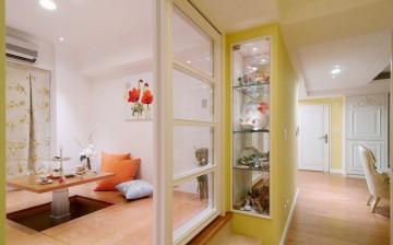 乡村简约新古典风格60平米一居室装修效果图