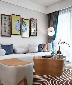 灰色调新古典风格70平米一居室装修效果图