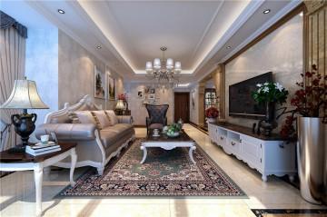 豪华温馨的欧式风格四居室装修效果图