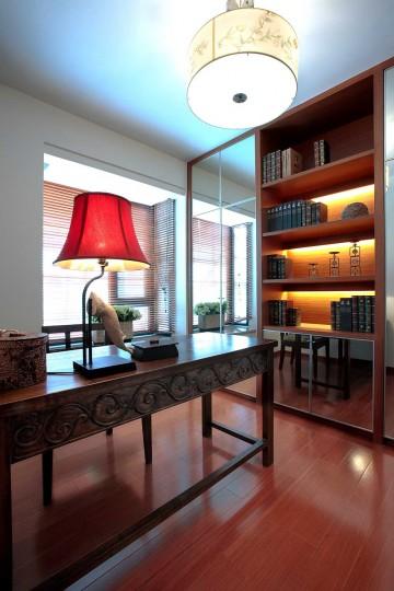 雅致自然中式风格100平米二居室装修效果图