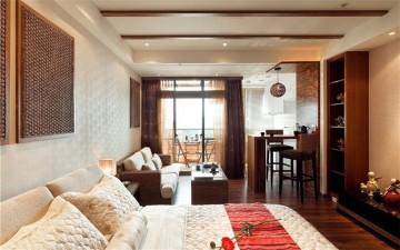 休闲东南亚风格公寓装修效果图