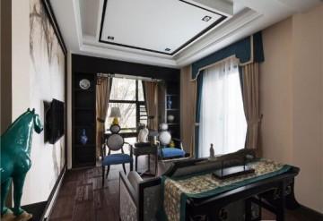 淡雅清新中式风格100平米公寓装修效果图