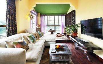 浪漫的东南亚风格公寓装修效果图