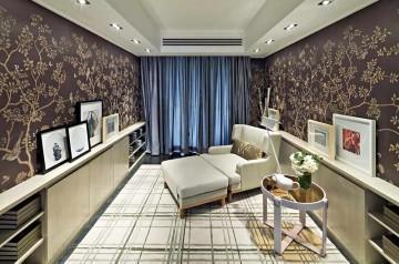 艺术时尚新古典风格120平米三居室装修效果图