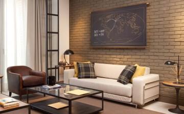 个性装修现代简约风格70平米二居室装修效果图