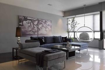 纯粹现代简约风格50平米一居室装修效果图