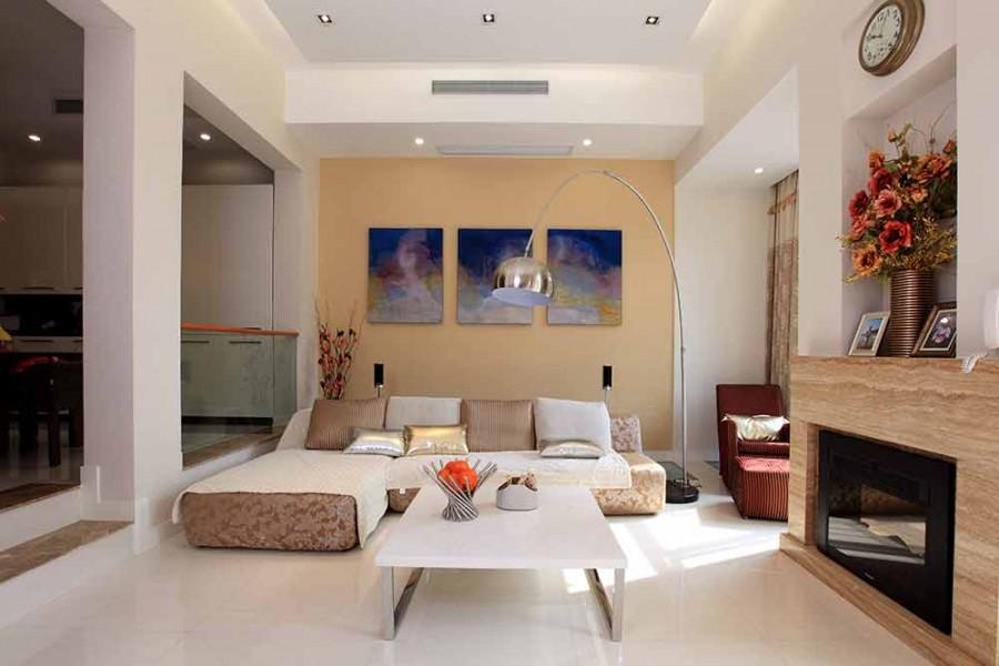 艺术个性现代简约风格220平米别墅装修效果图