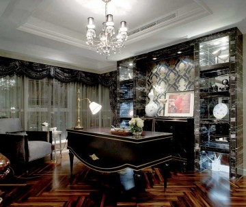 靓丽奢华新古典风格260平米别墅装修效果图