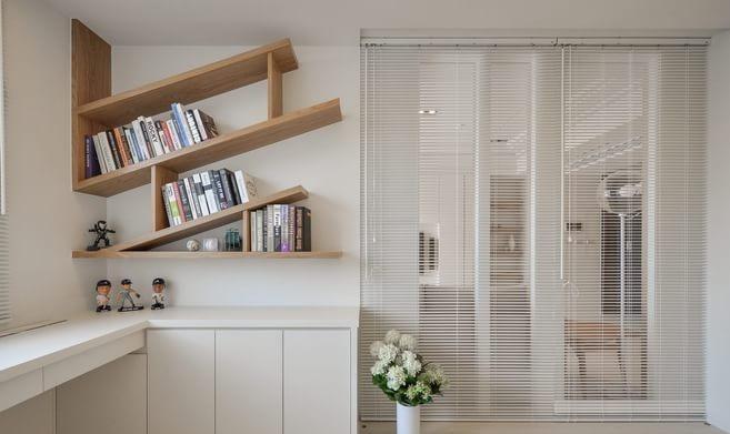 清新原木现代简约风格80平米二居室装修效果图