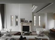 经典黑白灰现代简约风格200平米别墅客厅背景墙装修效果图