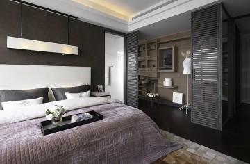 淡雅精致现代简约风格80平米二居室装修效果图