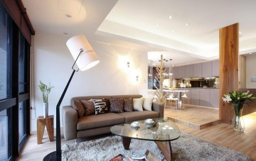 个性休闲现代简约风格50平米公寓装修效果图