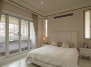 经典黑白灰现代简约风格200平米别墅卧室背景墙装修效果图