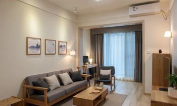 温润柔和现代简约风格90平米三居室装修效果图