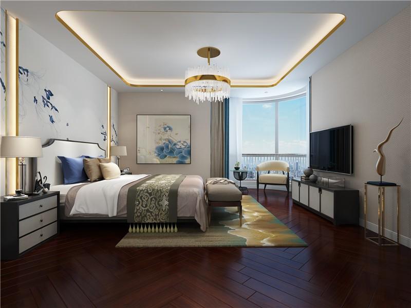 大气简约现代300平复式卧室吊顶装修效果图