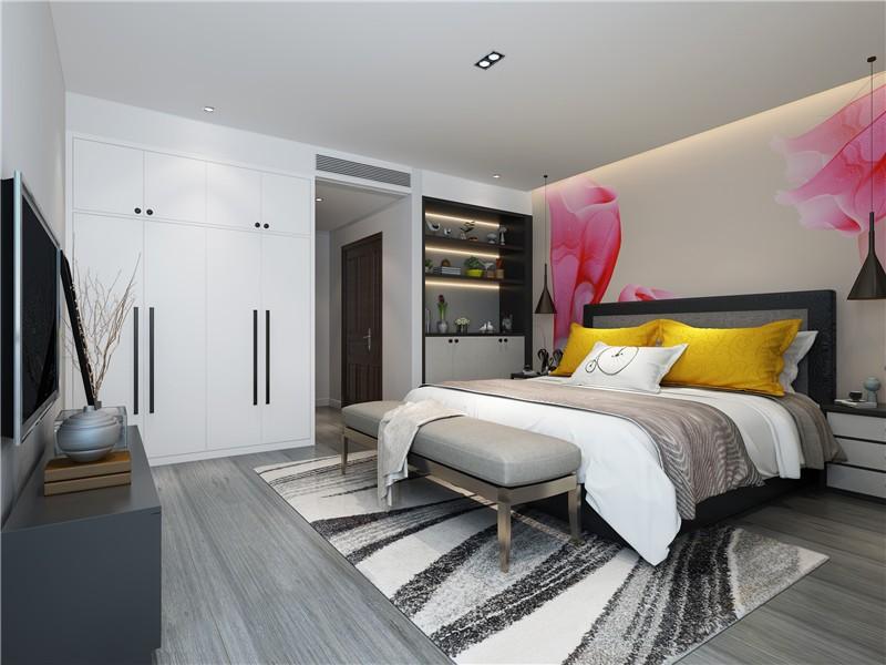 大气简约现代300平复式卧室衣柜装修效果图