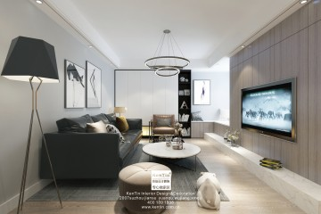蝴蝶湾现代简约二居室装修效果图