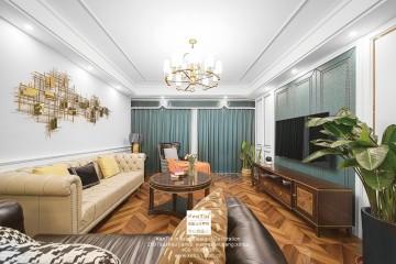 石湖天玺美式混搭四居室装修实景案例