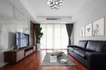 狮山名门现代简约三居室装修实景案例