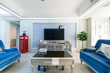 棕榈湾美式风格三居室装修实景案例