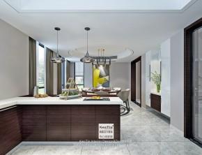 澄湖水岸现代简约别墅厨房装修效果图