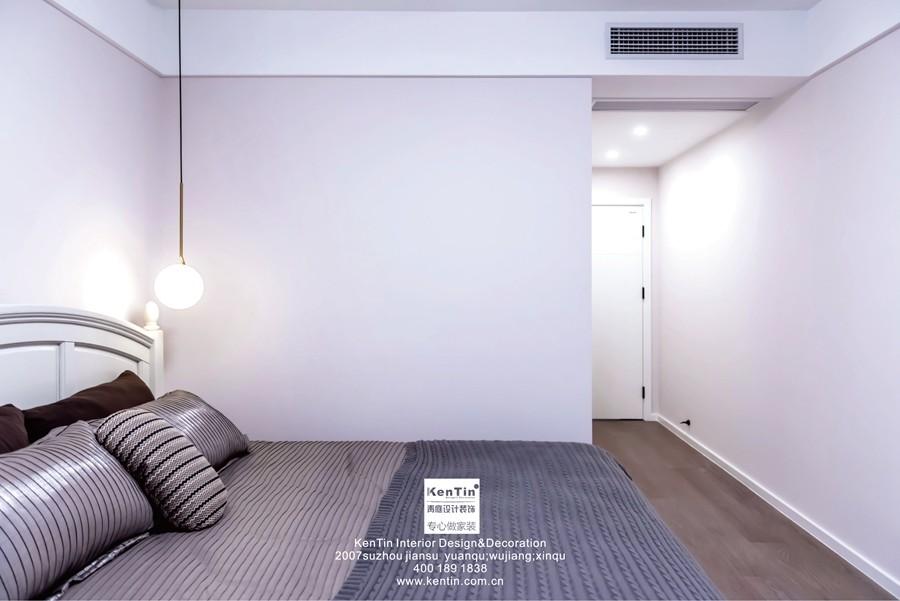 湖畔花园现代简约三居室卧室实景装修案例