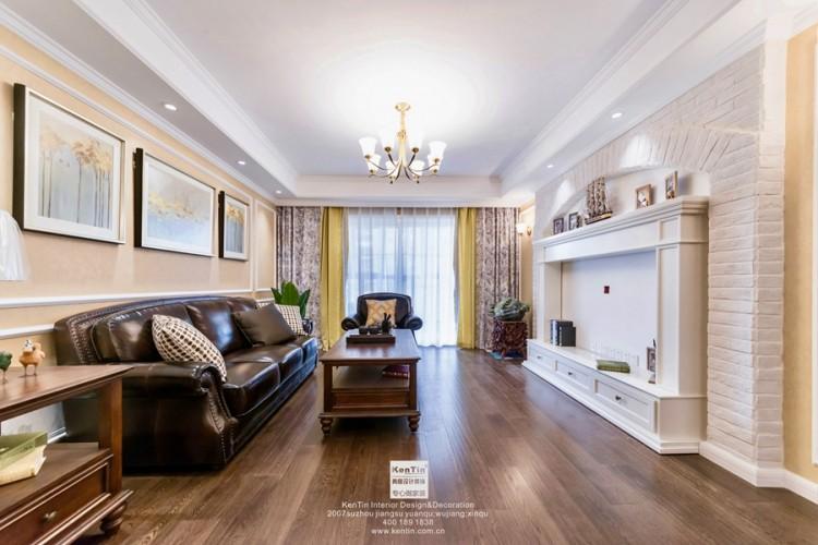 旭辉美澜城美式风格二居室装修实景案例