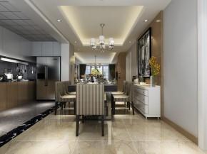 保利居上现代简约三居室餐厅装修效果图
