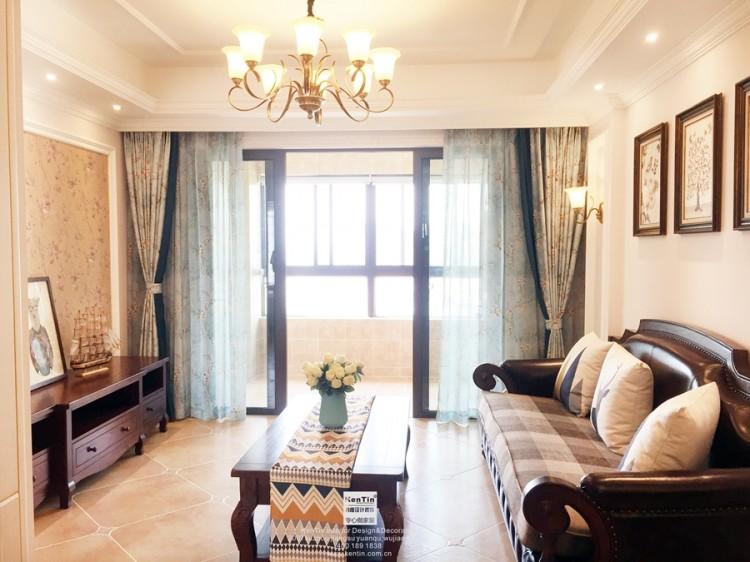 惠宇华庭美式风格三居室装修实景案例