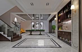 澄湖水岸现代简约别墅地下室装修效果图
