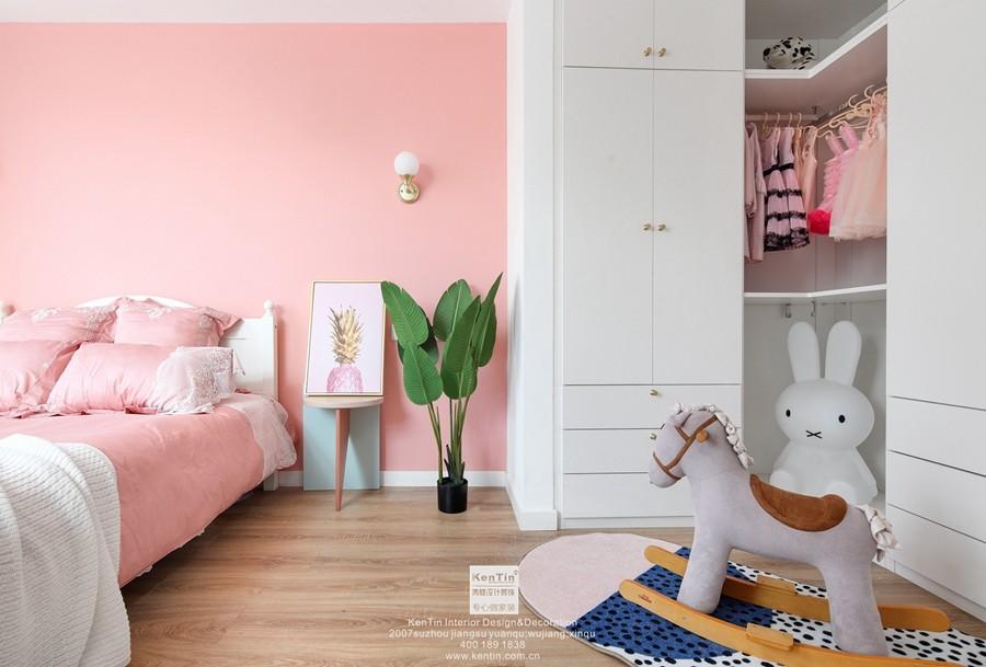 愉景湾现代轻奢混搭风格复式儿童房装修实景案例