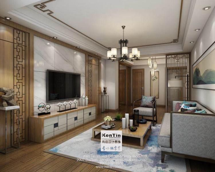 奥林清华中式风格三居室装修效果图