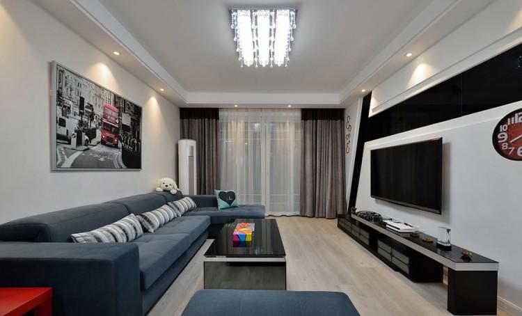 苏州湾天铂现代简约三居室装修案例