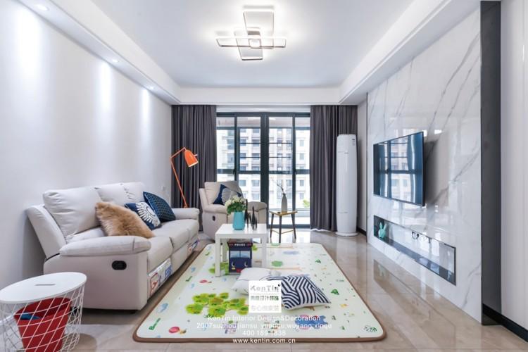 金秋家园现代简约三居室装修实景案例