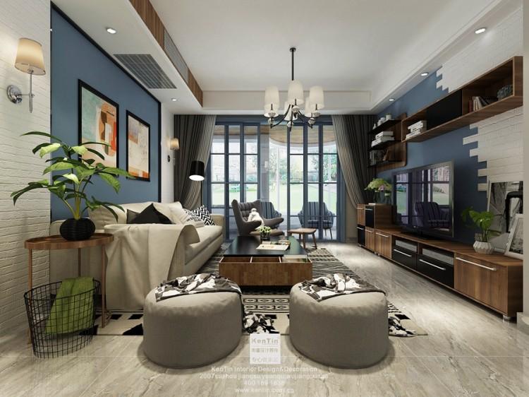 四季晶华现代简约三居室装修效果图