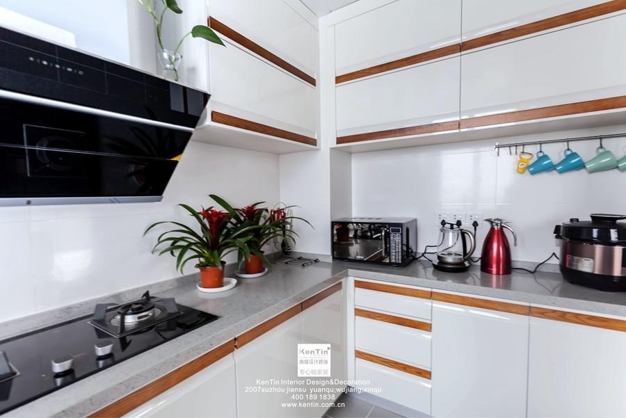 独墅湾现代简约三居室厨房装修实景案例