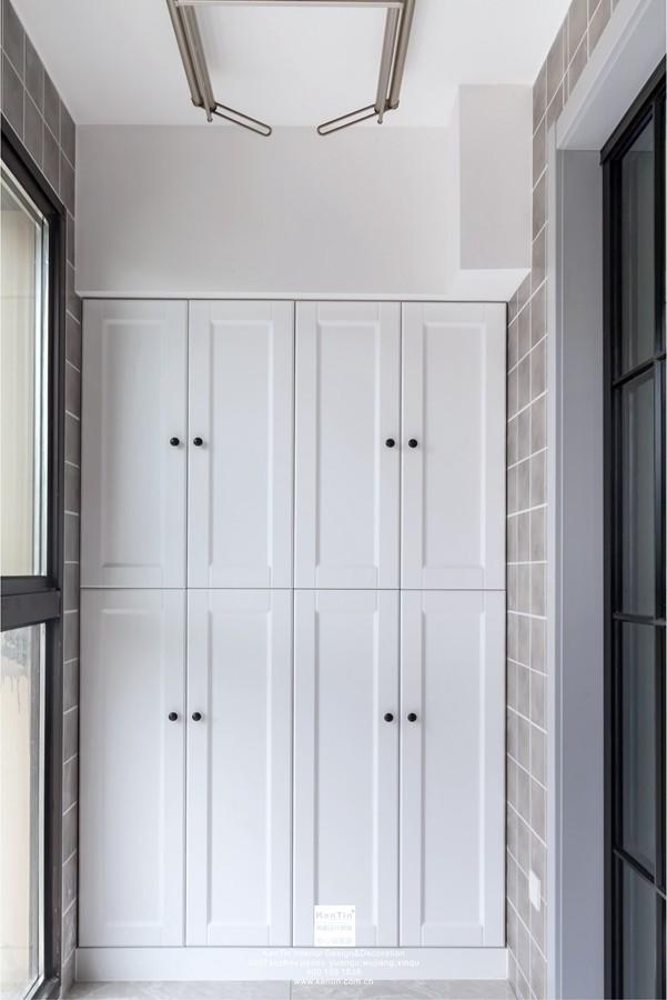 中交璟庭现代简约三居室阳台装修实景案例