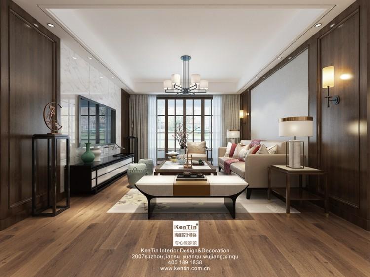 书香苑新中式三居室装修效果图