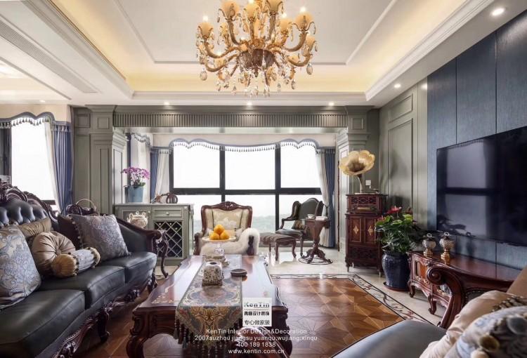 招商雍和苑美式风格四居室装修实景案例