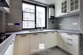 中交璟庭现代简约三居室厨房装修实景案例
