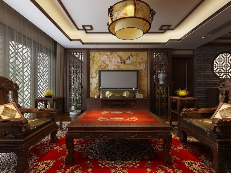 创智赢家中式风格四居室装修效果图