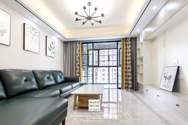 中交璟庭现代简约三居室装修实景案例