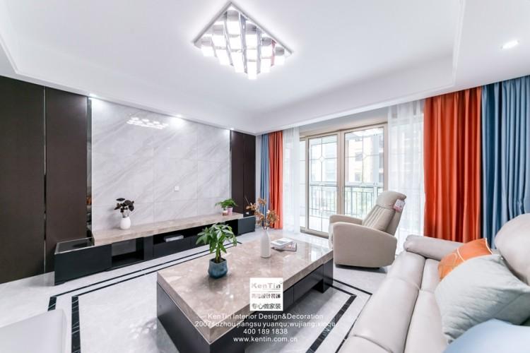 南山维拉现代简约二居室装修实景案例