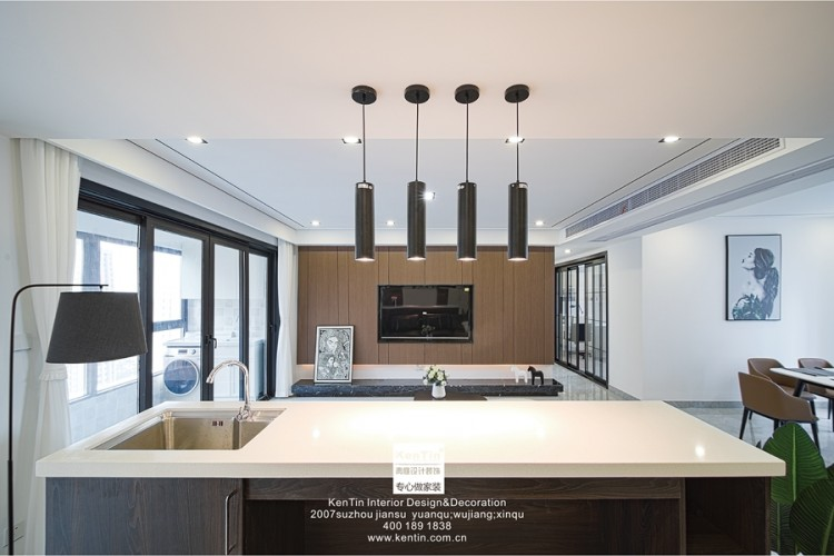 合景领峰现代简约四居室装修实景案例