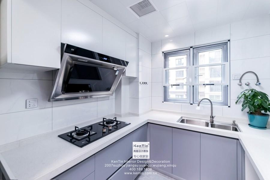 南山维拉现代简约二居室厨房装修实景案例
