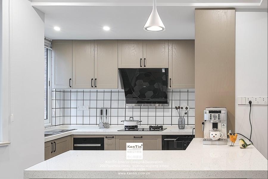 弘阳上湖现代简约三居室厨房装修实景案例