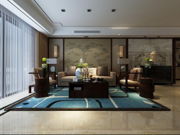 九龙仓繁华里中式风格四居室装修效果图
