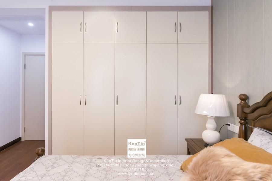 南山维拉现代简约二居室卧室装修实景案例
