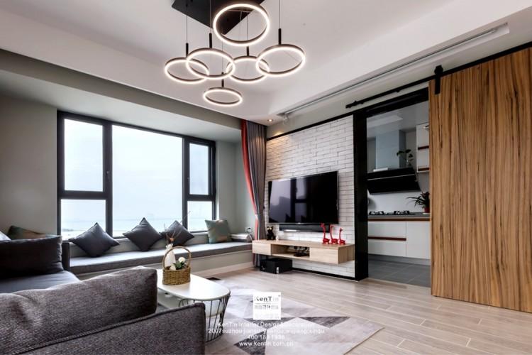 独墅湾现代简约三居室装修实景案例