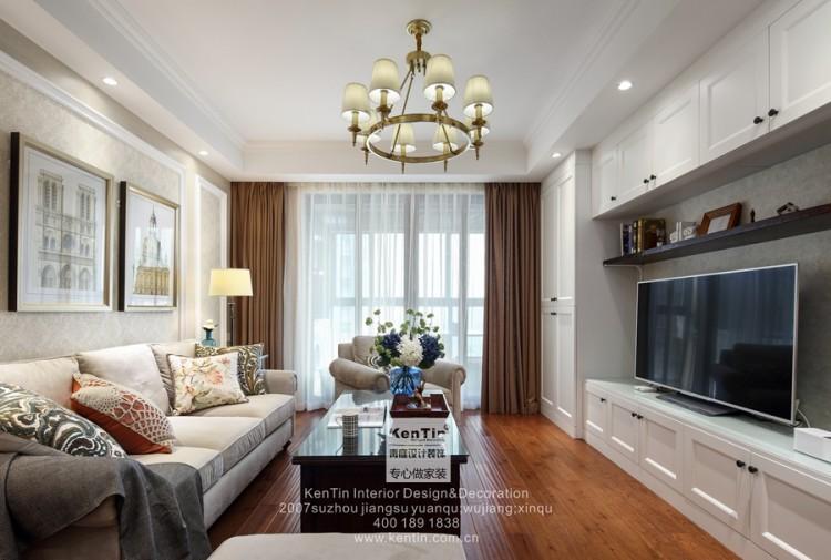 海德公园美式风格二居室装修实景案例